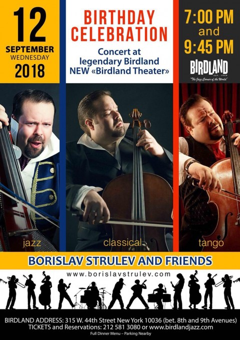 Borislav Strulev Cello New Birdland Theater New York