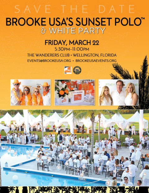 Brooke USA Sunset Polo & White Party March 22 Wellington,Florida