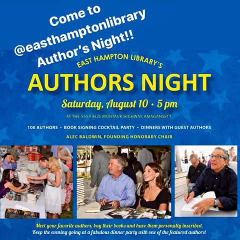 15th ANNUAL AUTHORS NIGHT BENEFIT EAST HAMPTON LIBRARY AUGUST 10