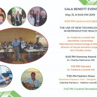Gala Benefit Global Bioethics Initiative May 31 New York. Speaker of the evening;  Dr.Frederick L. Licciardi  M.D. – world leading expert in Reproductive Endocrinology and Infertility.